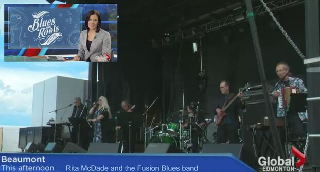 Rita Mcdade and Fusion Blues Band on Global Edmonton News